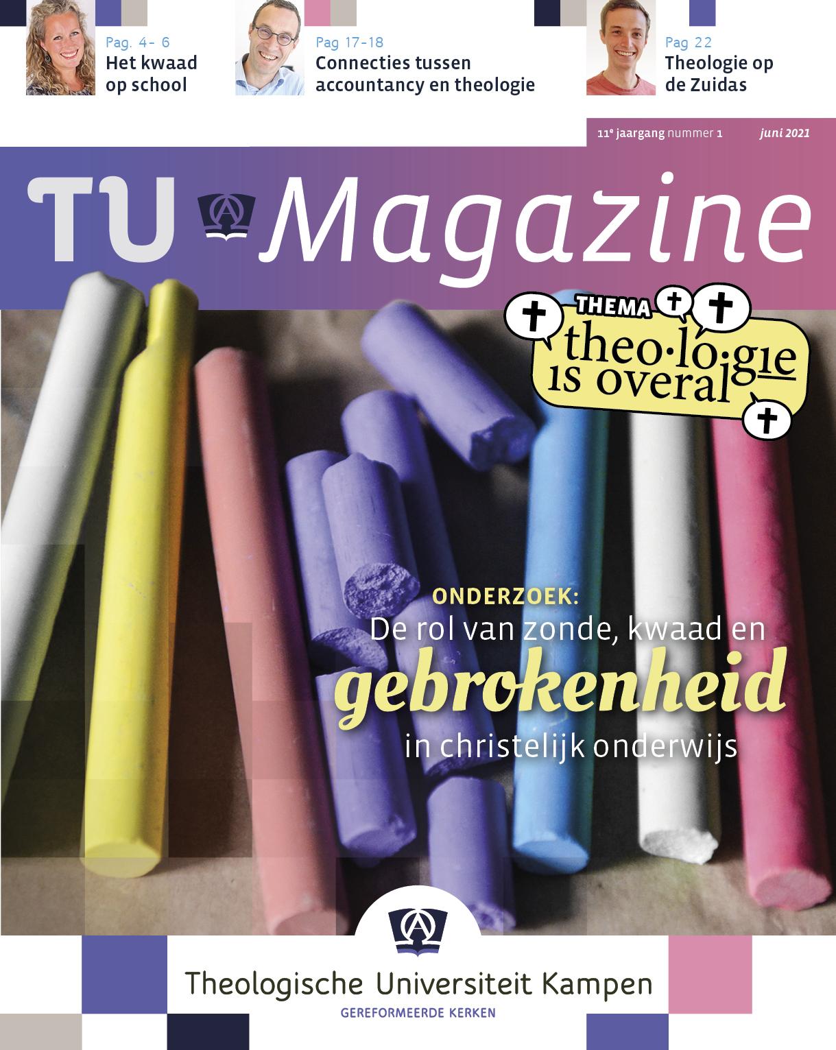 Cover van de meest recente TU Magazine
